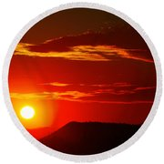 Another Beautiful Arizona Sunset Round Beach Towel