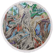 Another Branch Round Beach Towel