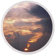 Another California Sunset Round Beach Towel