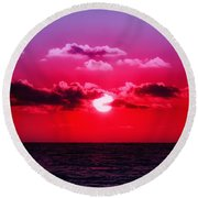 Another Day Another Sunset Round Beach Towel
