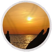 Another Day Done Round Beach Towel