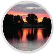 Another Day In Paradise Round Beach Towel