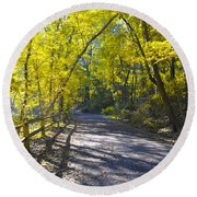 Another Fall In Philadelphia Round Beach Towel