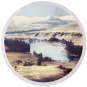 Another Flathead River Image Round Beach Towel