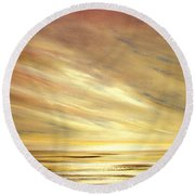 Another Golden Sunset Round Beach Towel