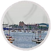 Another Harbor View Round Beach Towel