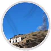 Another Hollywood Sign Round Beach Towel