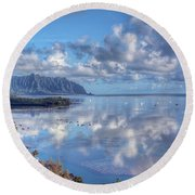 Another Kaneohe Morning Round Beach Towel by Dan McManus