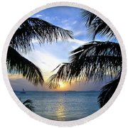 Another Key West Sunset Round Beach Towel