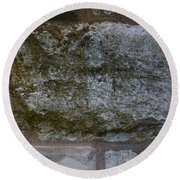 Another Mossy Brick In The Wall Round Beach Towel