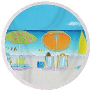 Another Perfect Beach Day Round Beach Towel