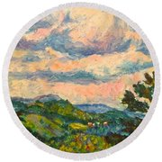 Another Rocky Knob Round Beach Towel