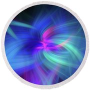 Another Space. Mystery Of Colors Round Beach Towel