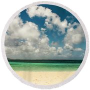 Anguilla - Another Spectacular Beach  Round Beach Towel