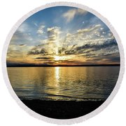 Another Sunset Round Beach Towel