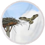Another Twig For The Nest Round Beach Towel