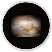 Another View Of Storm Clouds Round Beach Towel