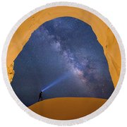 Another World Round Beach Towel