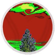 Another World On Earth Round Beach Towel