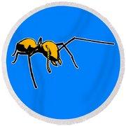 Ant Graphic  Round Beach Towel