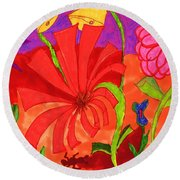 Ant Hill Round Beach Towel