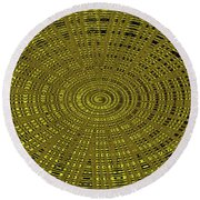 Ant Nest Abstract Fabric Design # 2 Round Beach Towel