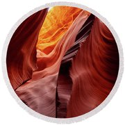 Antalope Canyon #2 Round Beach Towel