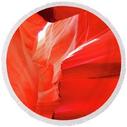 Antelope Butterfly Round Beach Towel
