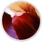 Antelope Canyon Layers Round Beach Towel