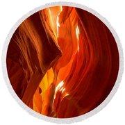 Antelope Canyon Wavy Abstract Round Beach Towel