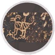 Antelope Petroglyph Round Beach Towel