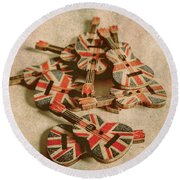 Anthem Of Old England Round Beach Towel