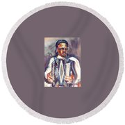 Anthony Round Beach Towel