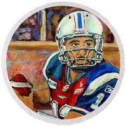 Anthony Calvillo Round Beach Towel