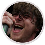 Anthony Green Of Circa Survive Round Beach Towel