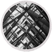 Anthony Skylights Grayscale Round Beach Towel