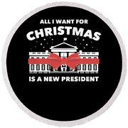 Anti Donald Trump Christmas Edition Vote For Dems Dark Round Beach Towel