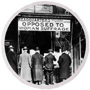 Anti-suffrage Association Round Beach Towel
