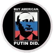 Anti Trump Art Impeach President Resist Putin Dark Round Beach Towel