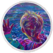 Anticipation Or Are We There Yet? Round Beach Towel