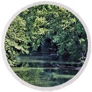 Antietam Creek Round Beach Towel