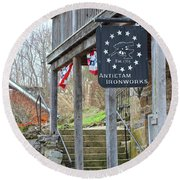 Antietam Ironworks Round Beach Towel