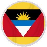 Antigua And Barbuda Round Beach Towel
