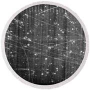 Antineutron, Bubble Chamber Event Round Beach Towel