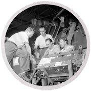 Antineutron Discovery Team, 1956 Round Beach Towel