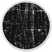 Antiproton Display, Bubble Chamber Event Round Beach Towel