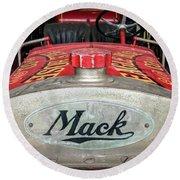 Antique 1930 Mack Bc-cd Fire Truck Round Beach Towel