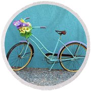 Antique Bicycle Round Beach Towel