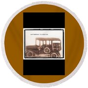 Antique Car For Dads Day Round Beach Towel