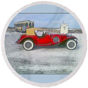 Antique Car Round Beach Towel